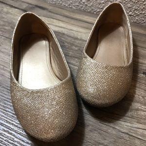 Dream Pairs Girl's Gold Glitter Ballet Flats